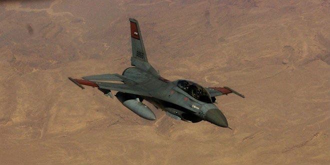 An Egyptian air force F-16 Fighting Falcon. (Photo:  Staff Sgt. Amy Abbott/ U.S. Air Force)