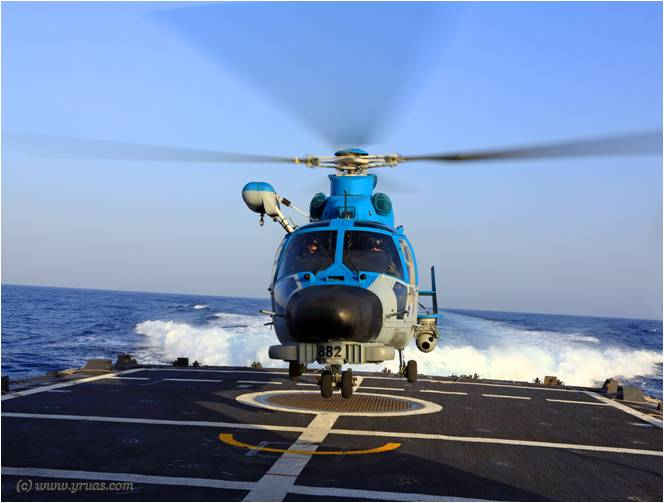 An IDF Navy search and rescue helicopter prepares to take off (Photo: Yissachar Ruas/ Tazpit News Agency)