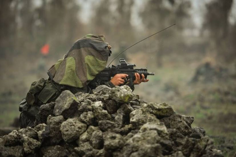 IDF 7 Soldiers practice firing from all sorts of positions and in different situations.