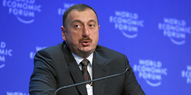 Ilham Aliyev, president of Azerbaijan, at the January 2009 World Economic Forum in Davos, Switzerland. Azerbaijan has made a rare move among nations in the Arab world: befriending Israel. (Photo: World Economic Forum)