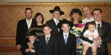 Leah with her family, who live in Israel, celebrating the Bar Mitzvah of her grandson. (Photo: Courtesy)