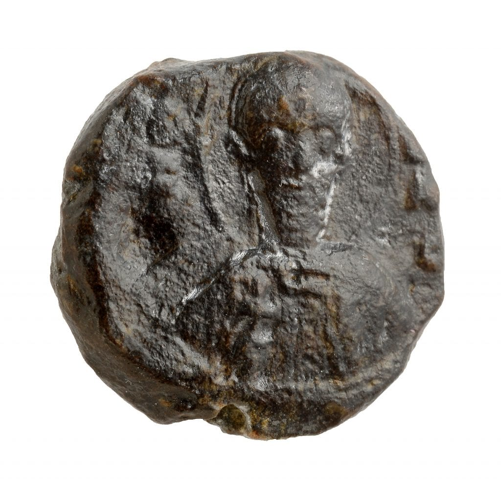 Picture of the seal. (Photo: Clara Amit/ Israel Antiquities Authority)