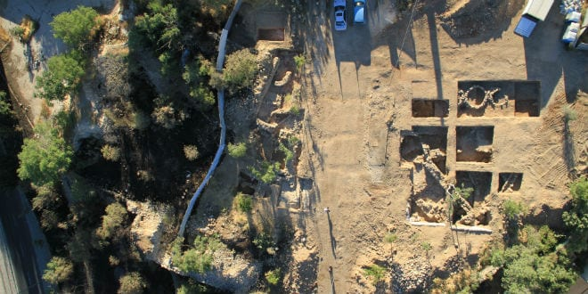 Picture of the excavation site. (Photo: Skyview Company/ Israel Antiquities Authority)
