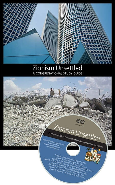 "The cover of the ""Zionism Unsettled"" study guide and its companion DVD. (Photo: Israel Palestine Mission Network)"