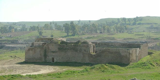 The abandoned Saint Elijah's Monastery—the oldest Christian monastery in Iraq—located in the Nineveh Province, just south of the city of Mosul. (Photo: Doug/ Wikimedia Commons)