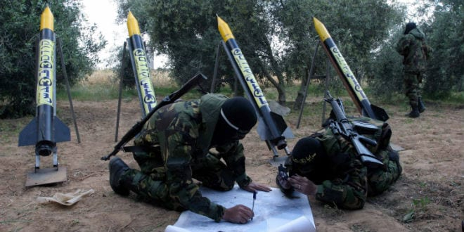 North of the Gaza Strip Al-Quds Brigades of the Islamic Jihad movement, viewing the missiles, soilders being trained to launch rockets to Israeli cities. (Photo: Abed Khatib/Flash90)