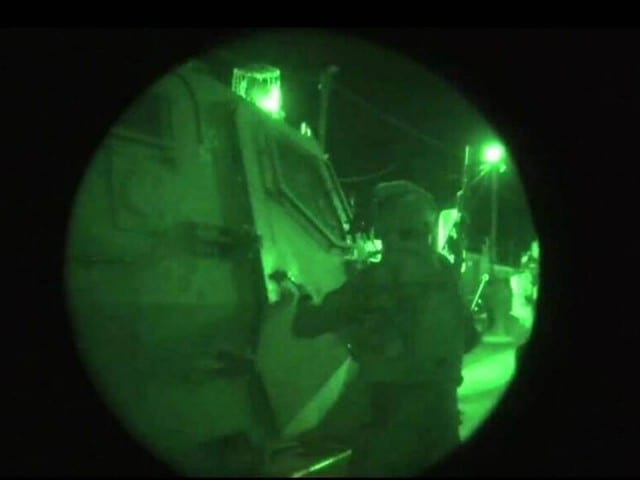 IDF forces conduct nighttime raids in Judea and Samaria, searching for the missing teens. (Photo: IDF)