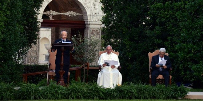 The Vatican hosted a historic prayer summit for peace in Israel, attended by Israeli President Shimon Peres and Palestinian Authority President Mahmoud Abbas. (Photo: Chaim Tzach/ GPO)