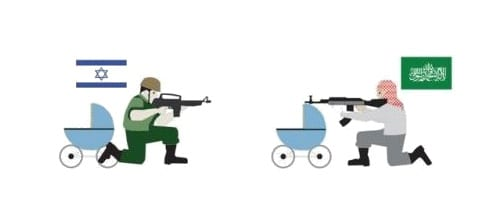 Image result for cartoon about hamas using children as human shields