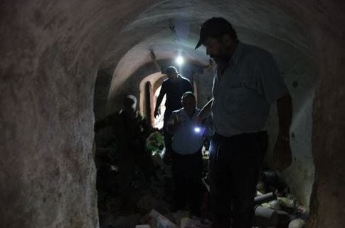 Noam Arnon, Spokesman for the Jewish Community of Hebron, in the terror tunnel found in Hebron on Wednesday 7/23/14. The tunnel was discovered under an arab home near Beit Hadassah leading in the direction on a local Jewish kindergarten.