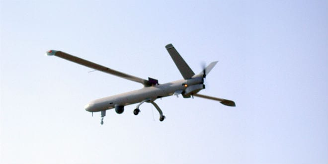 The Hermes 450 is a medium size UAV typically used by the IDF that provides real time intelligence to ground forces. (Photo: Elbit via Tsahi Ben-Ami / Flash 90)