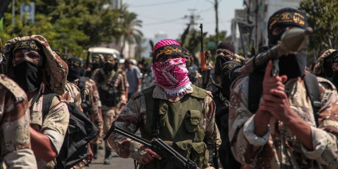 Hamas fighters in the Gaza Strip. (Photo: Emad Nassar/Flash90)