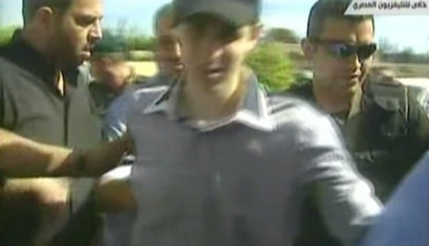 Raed al-Attar, top left, seen during the prisoner exchange that freed kidnapped IDF soldier Gilad Shalit.