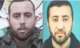 Hamas commanders Raed al-Attar (L) and Mohammed Abu Shamaleh (R) were killed in an IAF airstrike overnight Wednesday. (Photo: Shin Bet)
