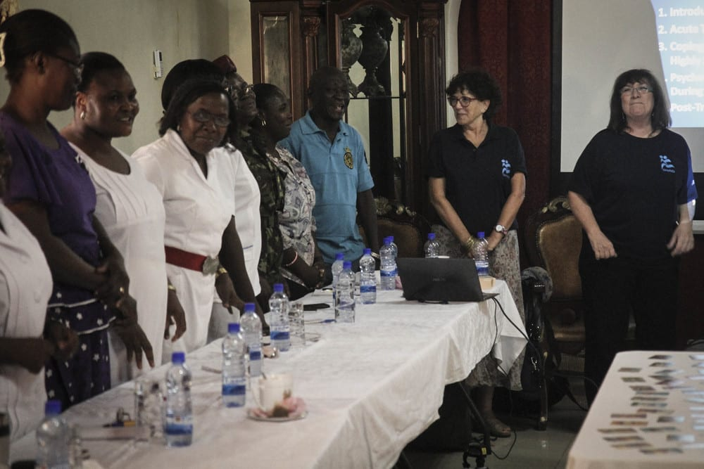 IsraAID (workers pictured at right) provides training in Sierra Leone amid the Ebola crisis. (Photo: IsraAID)