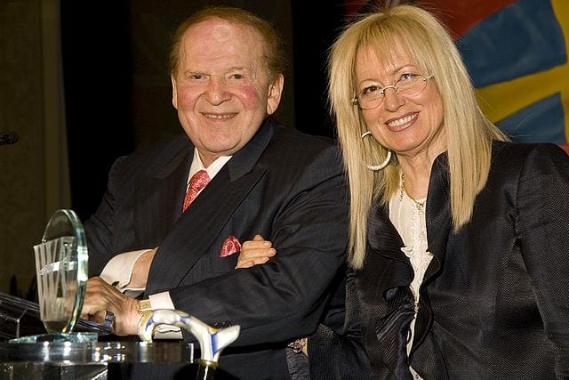 Sheldon and Miriam Adelson. (Photo: Wiki Commons)
