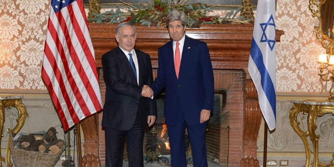 Prime Minister Benjamin Netanyahu meets with US Secretary of State John Kerry in Rome to discuss the Palestinian push for statehood at the UN, December 15, 2014.  (Photo: Amos Ben Gershom/ GPO)