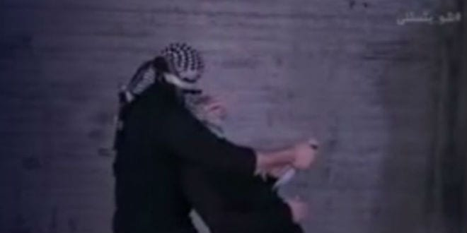 Screenshot from the video showing how to properly attack and stab someone.