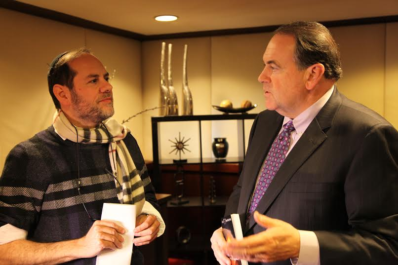 Harry Moskoff with Former Arkansas Governor Mike Huckabee. (Photo: Courtesy)