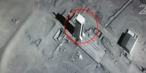 This image, first shown on Channel 2, shows the launching pad of long range missiles in Iran.