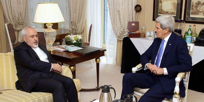 U.S. Secretary of State John Kerry meets with Iranian Foreign Minister Javad Zarif in Paris, France, on January 16, 2015, to continue their negotiations over the future of Iran's nuclear program. (Photo: US Department of State)