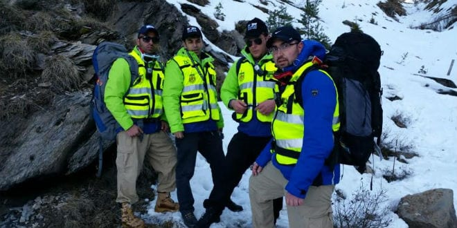 ZAKA volunteers help in search efforts at Germanwings crash site. (Photo: ZAKA)