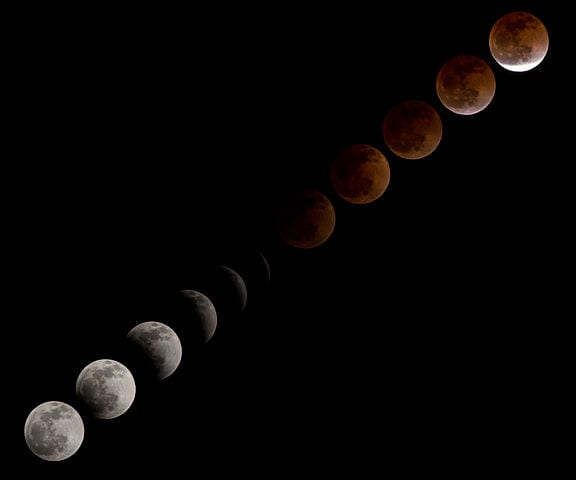 Blood Moon lunar eclipse on April 15. 2014. (Photo: NASA/Lauren Harnett)