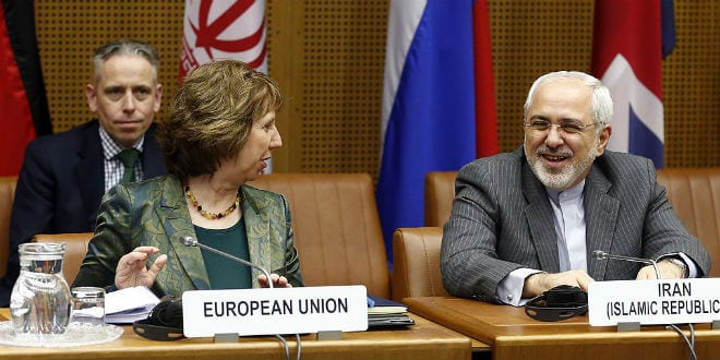 Officials from the EU and Iran in nuclear talks. (Photo:   Irankonferenz/ Wiki Commons)