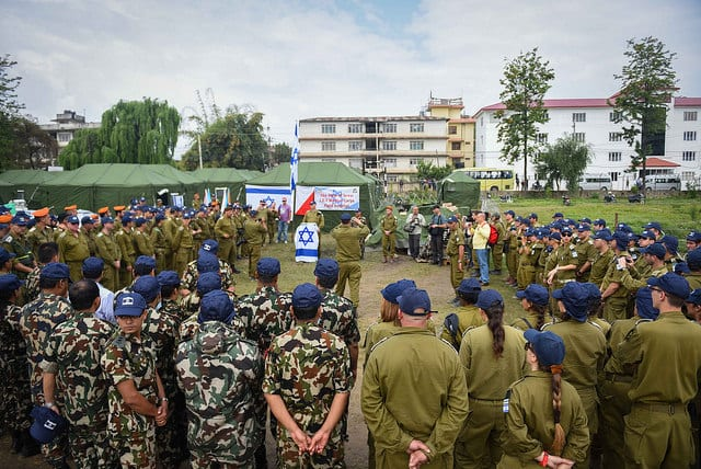 Opening of the IDF's Field Hospital in Nepal. (Photo: IDF)