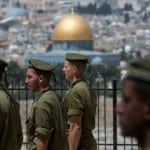 IDF Soldiers in Uniform Blocked from Ascending Temple Mount