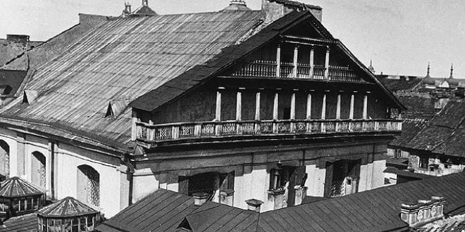 Synagogue of Vilna. Photo taken by the German army during the 1st World War (between 1914 and 1918). (Photo: Wiki Commons)