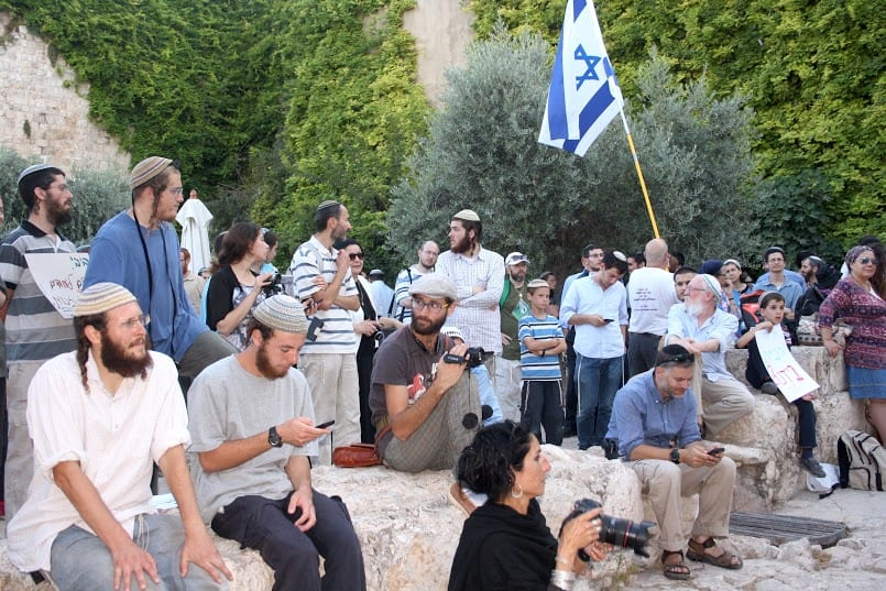 Temple Mount activists at the rally.(Photo: Adam Propp/ Temple Mount Heritage Foundation)