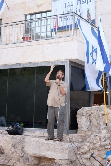 Rabbi Yehuda Glick addressing the rally. (Photo: Adam Propp/ Temple Mount Heritage Foundation)