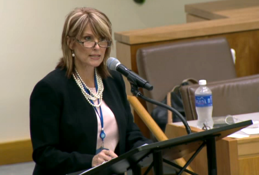 Laurie Cardoza-Moore, president of the Christian Zionist organization Proclaiming Justice to the Nations (PJTN), addresses the PJTN-organized session about anti-Semitism at the United Nations on Aug. 11. (Photo: Courtesy of PJTN)