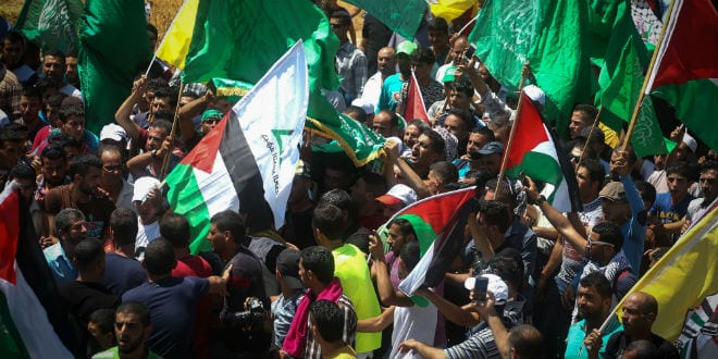 Funeral of Sa'ad Dawabsha, second victim of the July 31 firebombing attack on a Palestinian village. (Flash90)