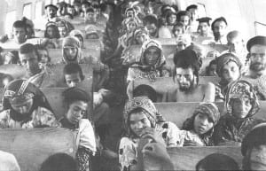 Yeminite Jews en route to Israel from Yemen in Operation Wings of Eagles, also known as Operation Magic Carpet. (Photo: Wiki Commons)