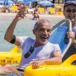 Wheelchair-Bound Israelis Swim in Ocean for First Time