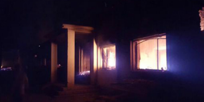 Photo of MSF trauma center in flames after aerial bombardment-Photo from MSF Twitter