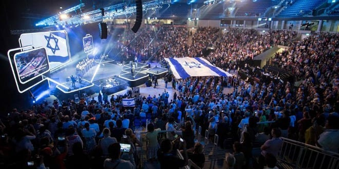 This year's Feast of Tabernacles celebration in Jerusalem. (Photo: ICEJ)