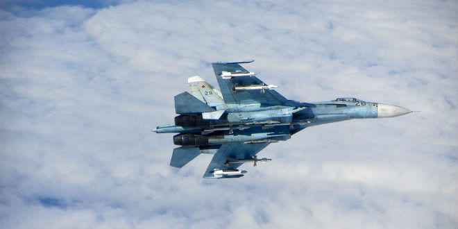 A Russian SU-27 Flanker aircraft. (Photo: RAF/MOD/Wiki Commons)