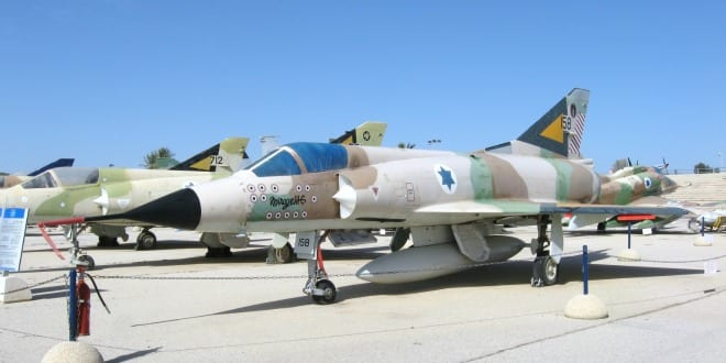 Israeli Air Force Mirage IIICJ 158 at the Israeli Air Force Museum in Hatzerim. Bears 13 kills markings and the colors of 101 Squadron. (Photo: Oren Rozen / Wiki Commons)