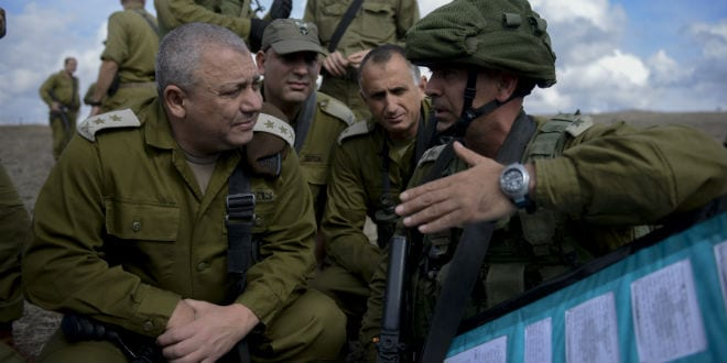 Israeli Chief of Staff Gadi EIzenkot seen during a visit at an army exercise of the Golani Brigade, in the Golan Heights on October 27, 2015. (Photo by Gefen Reznik/IDF Spokesperson)