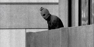 An image of one of the Palestinian terrorists during the Munich attacks. (Photo: Wikimedia Commons)