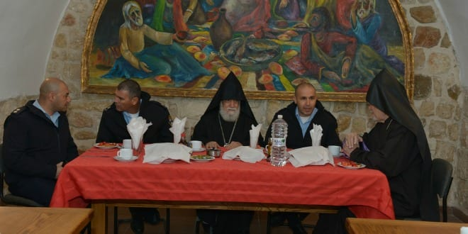 Israeli officials visit with Armenian Christian leaders in Jerusalem to mark Armenian Christmas, which is celebrated Jan. 18-19 rather than Dec. 25. (Photo: © Armenian Patriarchate of Jerusalem)