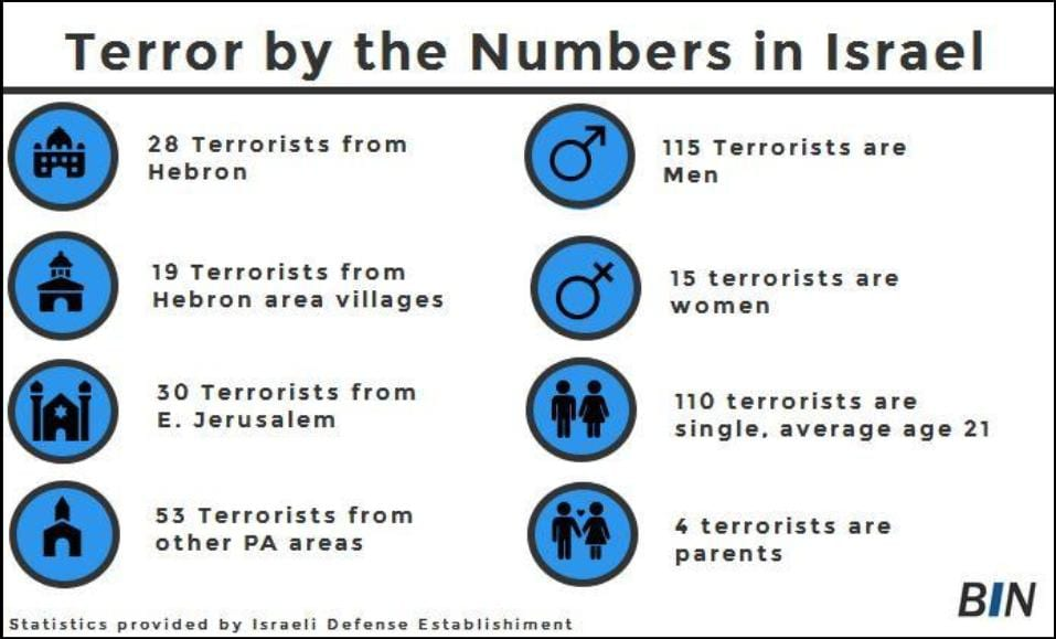 terror by the numbers in israel infographic