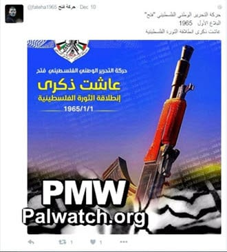 (Twitter Account of the Fatah Movement)