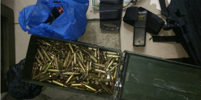Military Weapons Discovered in Jerusalem Falafel Store (Photo: Courtesy/TPS)