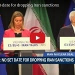 EU Chief: No Set Date for Dropping Iran Sanctions