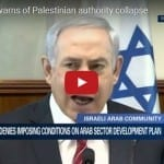 Netanyahu Warns of Palestinian Authority Collapse