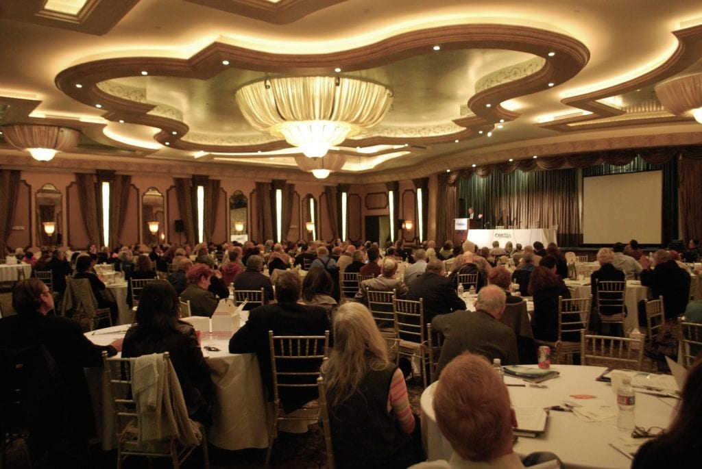 "The crowd at the CAMERA media watchdog group's Jan. 18 Los Angeles conference, ""The Assault on Evangelical Christian Support for Israel."" (Photo: Courtesy CAMERA)"